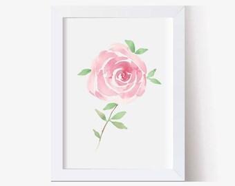 Watercolor Painting, Watercolor Picture Roses Art Print, Floral Art Print, Watercolor Art, Hand Painted, Rose Art Print (5x7, 8x10, 11x14)