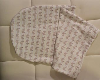 Elephants Never Forget Swaddle Cocoon and Hat