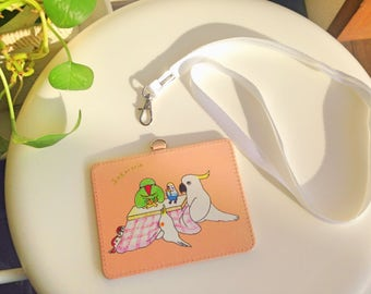 Heartwarming birds pass holder/Kotatsu