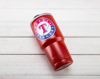 Texas Rangers YETI Cup  Texas Rangers Cup Texas Rangers Birthday Texas Rangers Gift Texas Rangers Party Texas Rangers YETI Cup