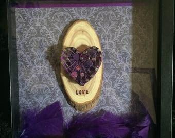 String nail art heart framed