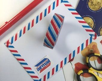 Red white blue washi airmail washi paper tape