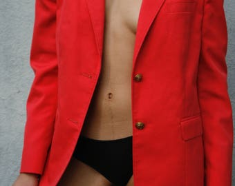 Vintage punch blazer with gold buttons