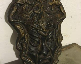Ancient mask brass heavy antique brass hard mask