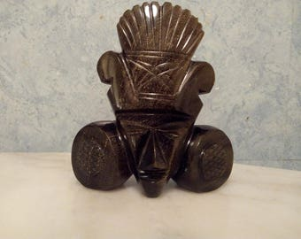 Statue in Obsidian from Mexico