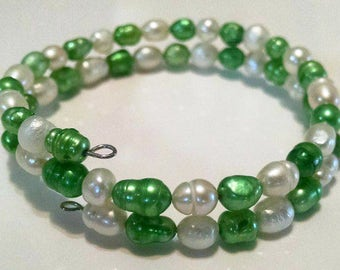 Freshwater Pearl Memory Bracelet