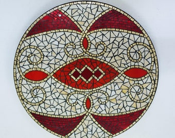 Elegance Stained Glass Mosaic Lazy Susan