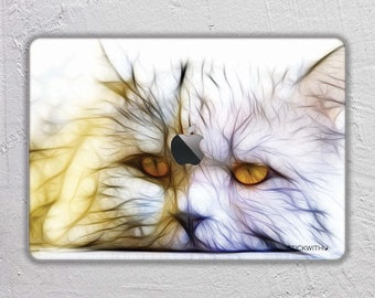 Cat macbook skin animal macbook decal Abstract art macbook sticker macbook cover macbook pro skin macbook air 13  vinyl sticker FSM175