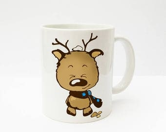 Cup with a reindeer boy Karl gift Elche TS110