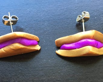 Living on PB&J earrings