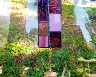 Glass mobile, Garden decoration, Home decor, Feng Shui outdoor, Sun catcher, Stained glass,