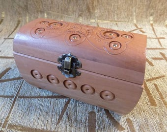 Wooden hand carved jewelery box Very Nice gift for girl #d100