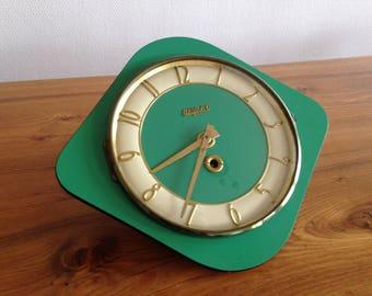 French Retro clock / clock Bayard /formica / collection / kitchen