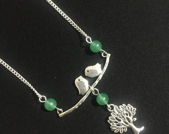 Birds and Tree Necklace