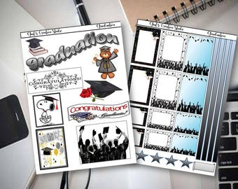 Graduation Stickers for Happy Planner