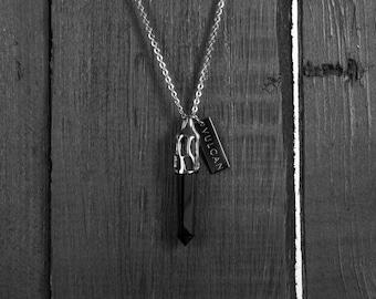 Vulcan Black Crystal Necklace