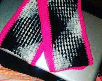 Zebra & Pink Infinity Scarf
