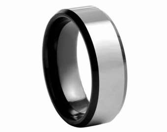 Tungsten Carbide Wedding Ring Band / Fashionable Ring, Wedding Band, Wedding ring, Mens ring, smooth ring, anniversary ring
