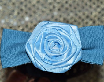 Baby Blue Rosetta Rose Bow-Tie