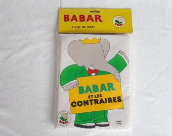 NINE bath BABAR book and Editions LITO 1990 opposites