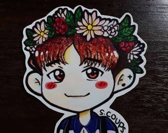 S201 S.Coups Flower Crown Sticker