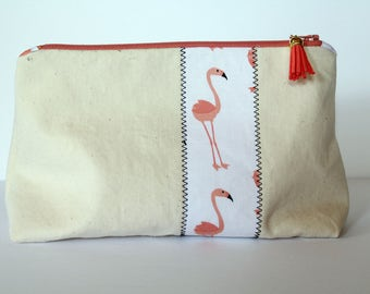 "9"" Canvas Zippered Pouch"