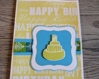 Birthday Card - Handmade - Happy Birthday