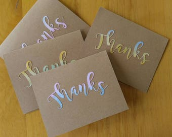 Handmade Set of 4 Thank You cards