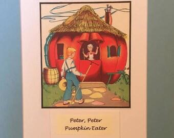 "Vintage 1941 ""Peter, Peter, Pumpkin Eater"""