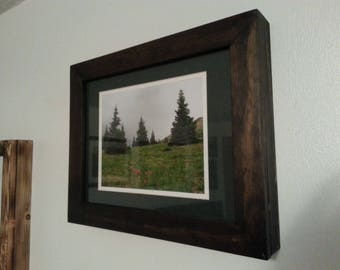 Pine concealment frame stained dark