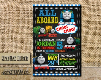 Thomas The Train Invitation / Thomas The Train Birthday / Thomas The Train Birthday Invitation / Thomas The Train Party / Thomas The Train