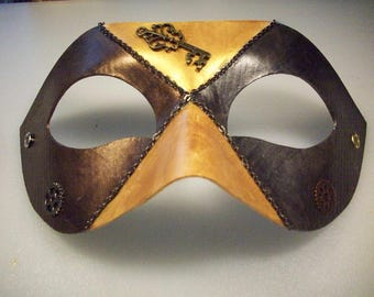 Steampunk Masquerade Mask with key