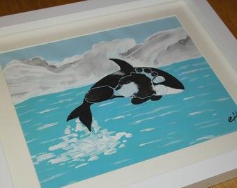 Killer Whale Art Etsy