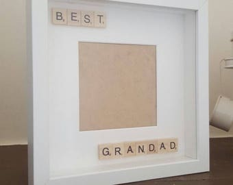 Best grandad scrabble photo frame