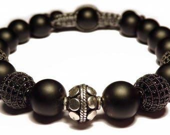 The black shamballa bracelet