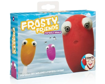 Mustard Frosty Friends  Attachable Eyes  Ice Lolly  Popsicle  Icepop  Mould  Fun