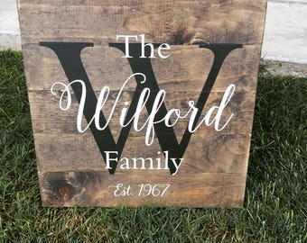Last Name Sign | Family Name Sign | Rustic Last Name Sign