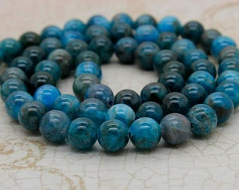 Apatite Beads - Round Natural Gemstone Mala Bead (4mm 6mm 8mm 10mm)