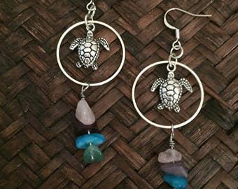 Turtle earrings 2