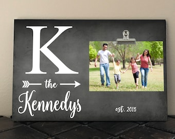 PERSONALIZED FRAME, Personalized Free, Perfect gift for Wedding, Anniversary, Family frame, Initial with last name and est date  in01