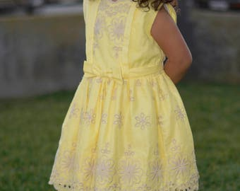 Girls' Dress sizes 18 months - 3 years, Children's Floral Tread Dress