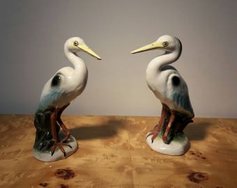 Herons of porcelain.