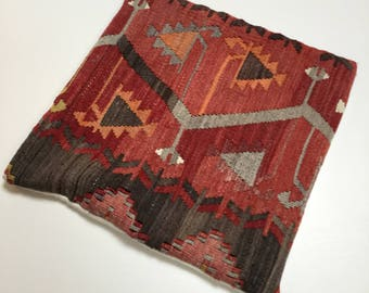Handwoven 100% wool cushion cover
