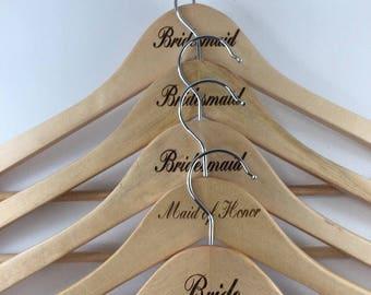 Custom Wedding Hangers- Set of 5