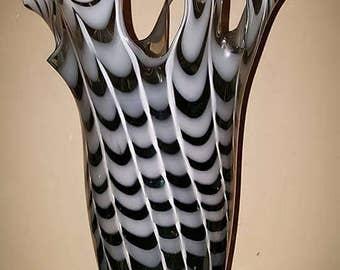 Black and White Tall Vase