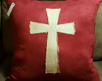 Hand made decorative CROSS pillow