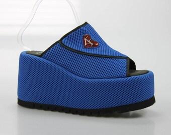 90's vintage Luichiny plateau Sandals size. 40