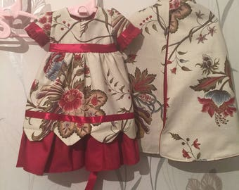 Doll dress and cape
