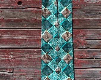green clergy stole, African fabric from Congo, for ordinary time for ministers, priest, pastors, reversible