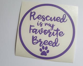 Rescue Mom Decal, Adopt Paw Decal, Adopt Pet Decal, Adopt Dog Decal, Adopt Decal, Pet Decal, Rescue Decal, Dog Decal, Dog Car Decal, Paw